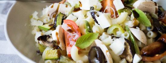 Σαλάτα Ζυμαρικών με Ψητά Λαχανικά και Μοτσαρέλα Dirollo