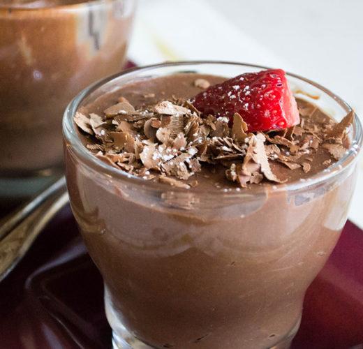 Μους σοκολάτας με Dirollo Spread και Μαρμελάδα Φράουλα