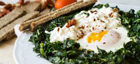 Αυγά με Σπανάκι και Dirollo Cottage