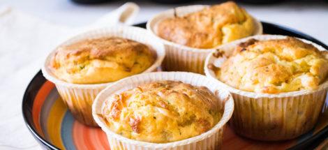 Αλμυρά Muffins με Λαχανικά και Dirollo Mozzarella